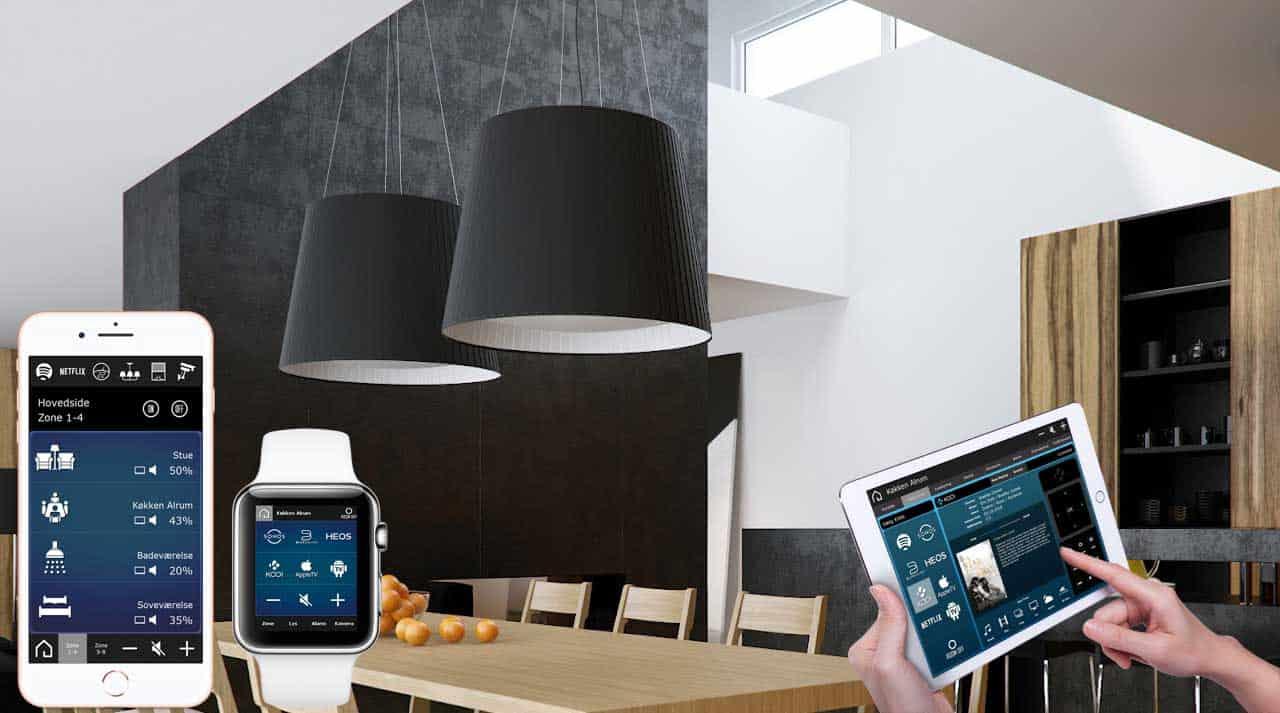 Betjening og lysstyring i bolig