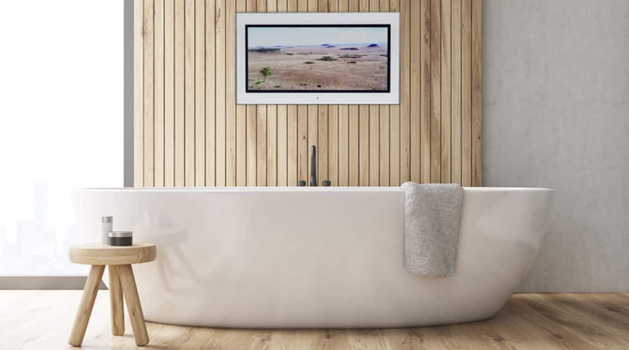 Spejl Tv på badeværelse