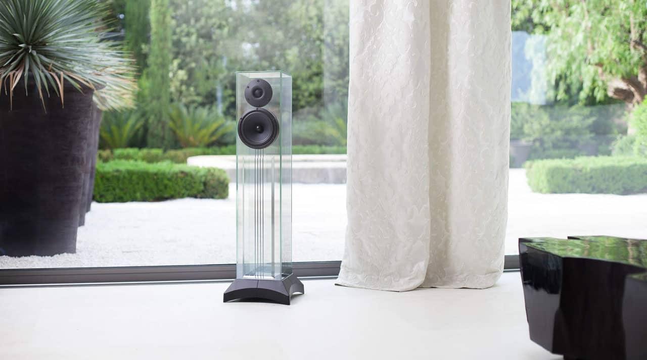 HiFi højttalere i glas