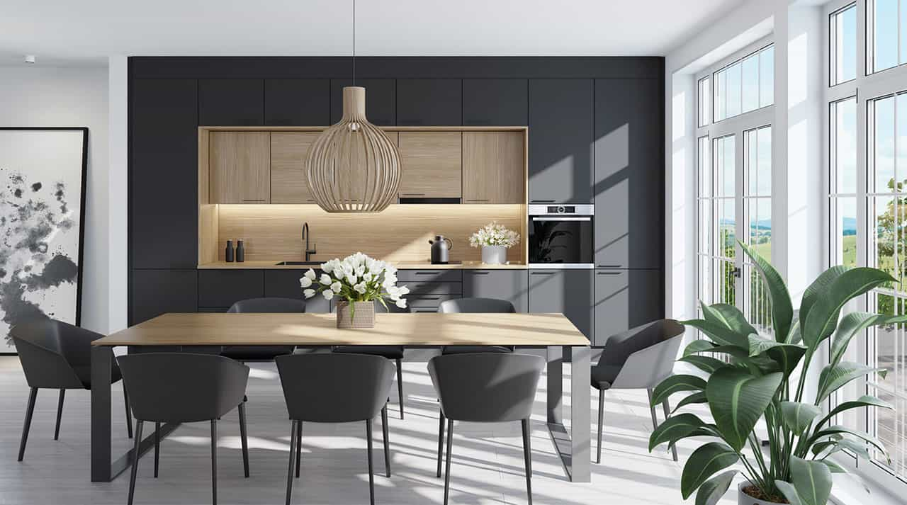 Indbygningshøjttalere køkken / alrum